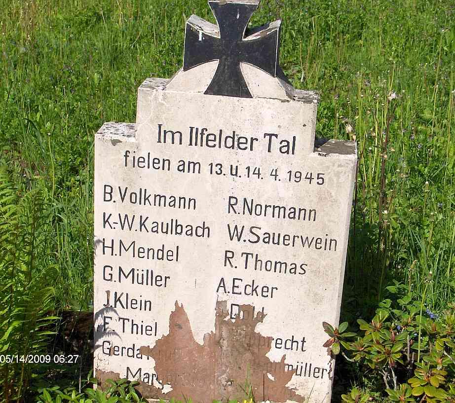 In Gedenken an die im Krieg Verstorbenen