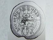 Wappensiegel derer von Hoya 1526