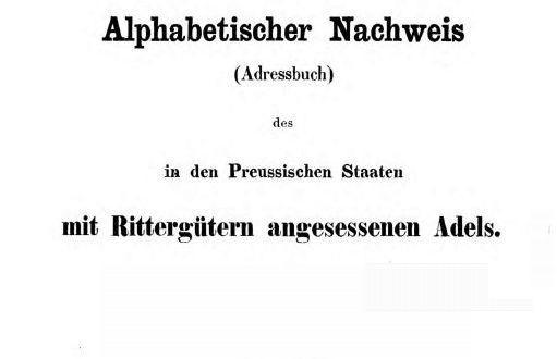 Adressbuch-Rittergueter