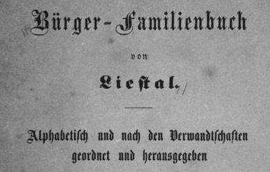 Familienbuch-Liestal