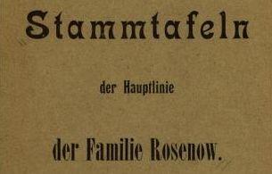 Stammtafeln-Rosenow