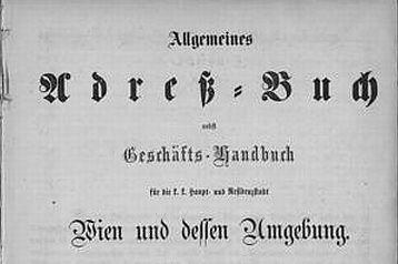 Adressbuch-Wien