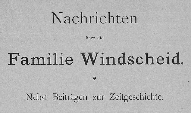 Titelblatt-Windscheid