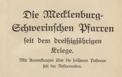 Mecklenburg-Schwerinsche-Pfarren