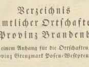 Ortsverzeichnis-Brandenburg