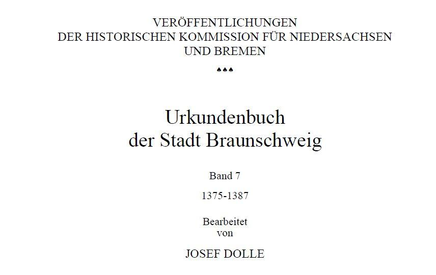 Urkundenbuch-Braunschweig