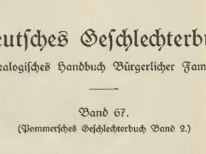 Pommersches-Geschlechterbuch