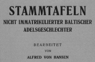 Stammtafeln-Baltischer-Geschlechter