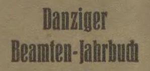 Danziger-Beamtenjahrbuch