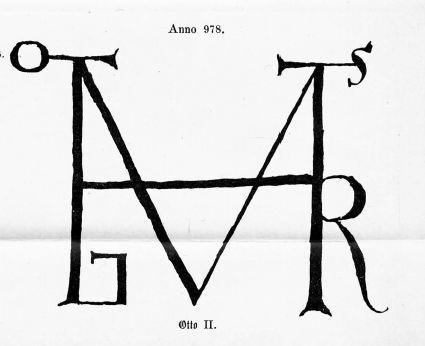 Monogramm-Otto-II-anno-978