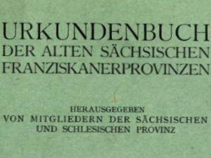 Urkundenbuch-Franziskanerprovinzen