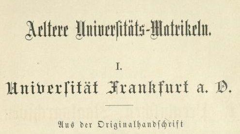 Unimatrikel-Frankfurt-Oder