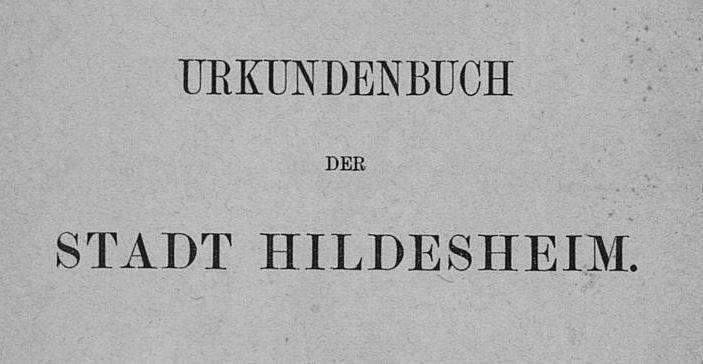 Urkundenbuch-Hildesheim