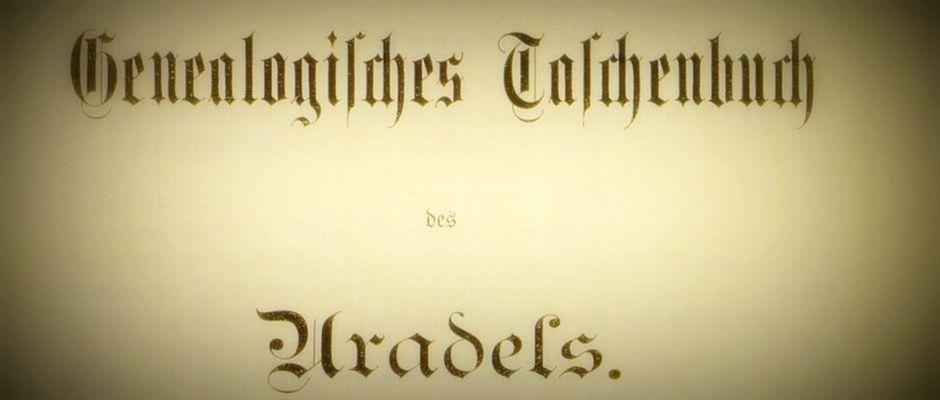 genealogisches taschenbuch des uradels