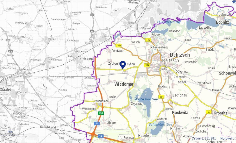 Map Kyhna