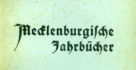 Mecklenburger-Jahrbücher