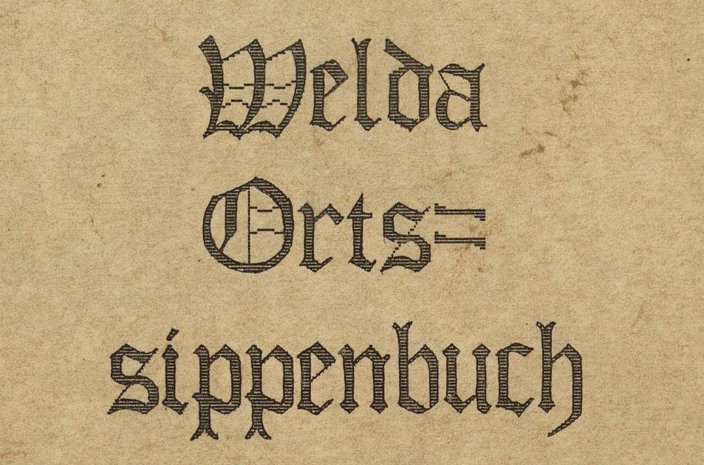 Ortssippenbuch-Welda