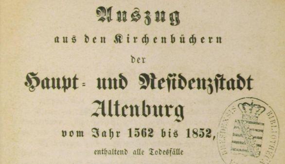 Titelblatt KB Altenburg