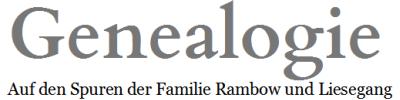 Genealogieseiten - rambow.de - Deutscher Blog